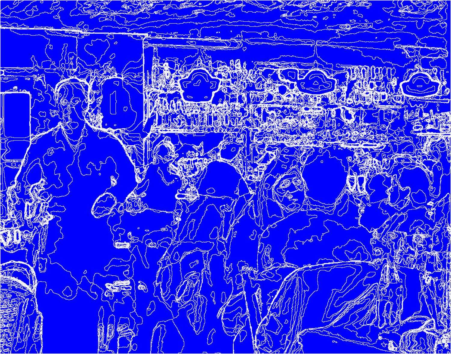 - Blue bistro - Techno-Impressionist Museum - Techno-Impressionism - art - beautiful - photo photography picture - by Tony Karp