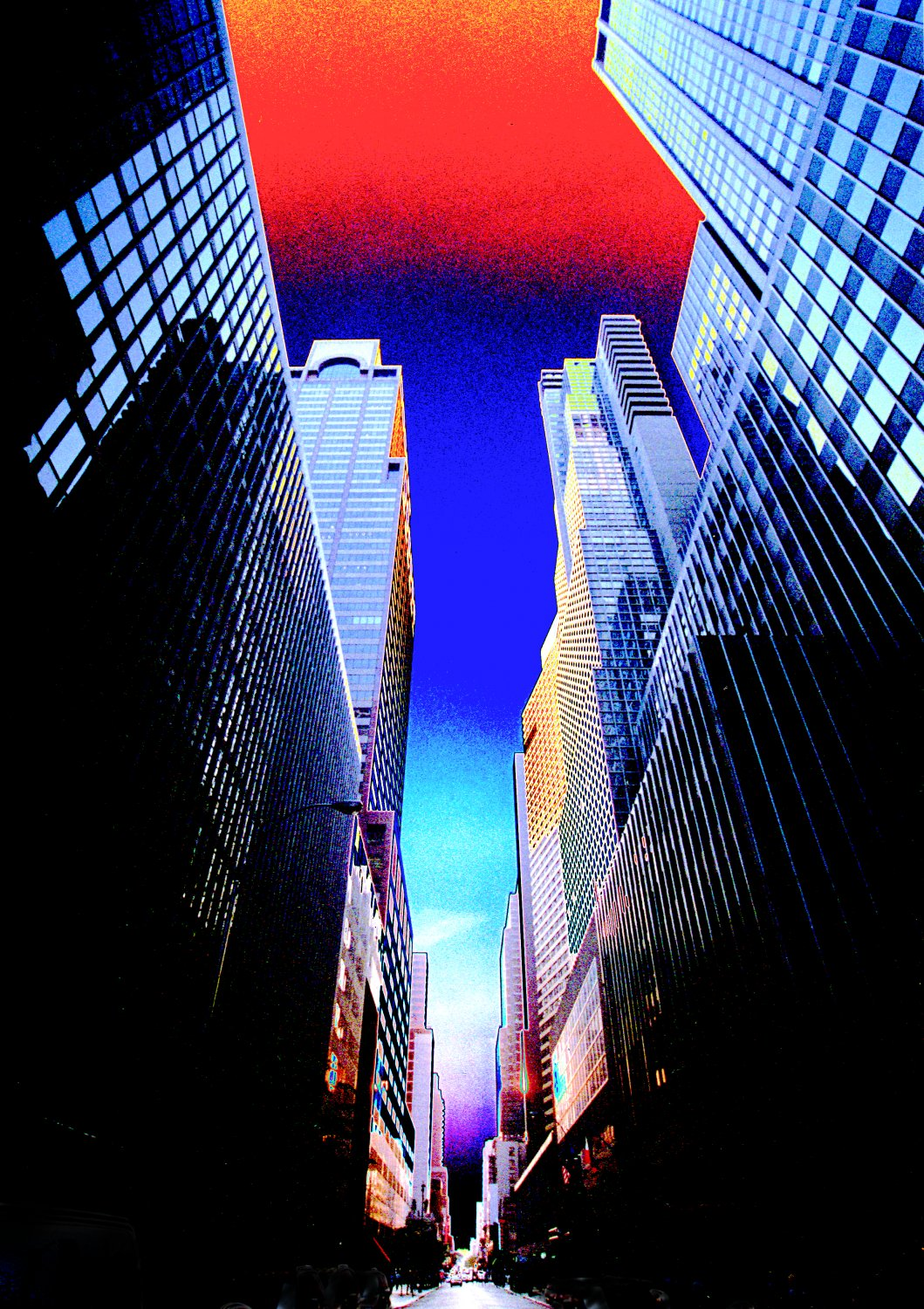 - Manhattan canyon - Techno-Impressionist Museum - Techno-Impressionism - art - beautiful - photo photography picture - by Tony Karp