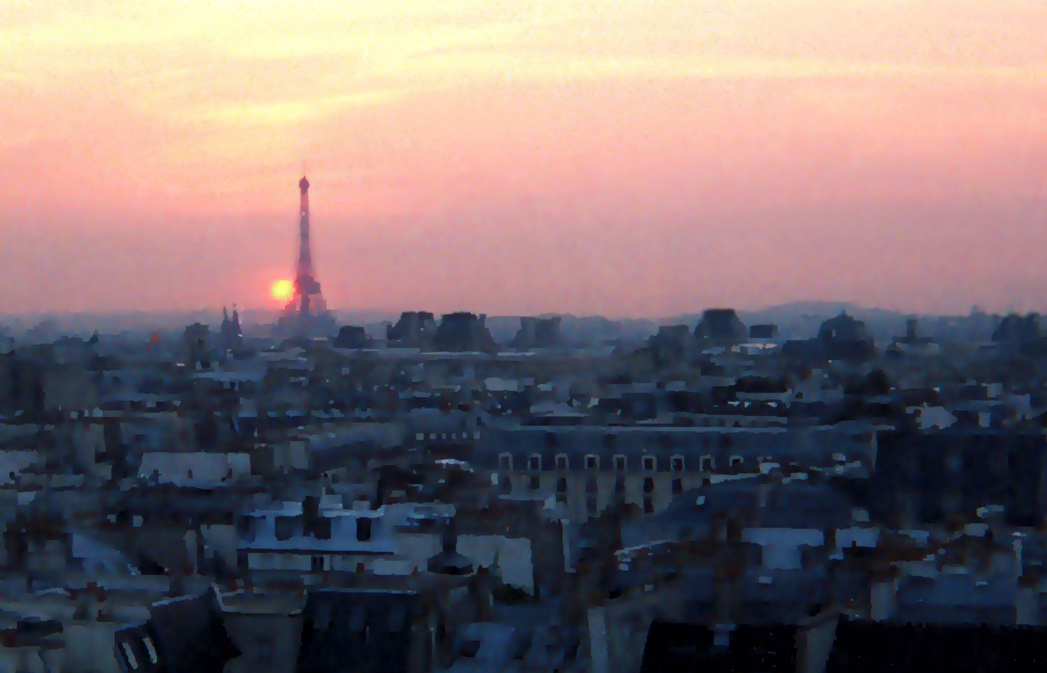 - Parisian sunset - Techno-Impressionist Museum - Techno-Impressionism - art - beautiful - photo photography picture - by Tony Karp