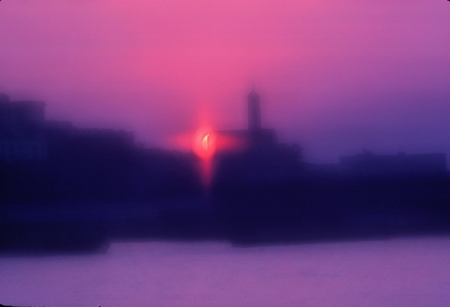 - Sunset from the ferry - Techno-Impressionist Museum - Techno-Impressionism - art - beautiful - photo photography picture - by Tony Karp