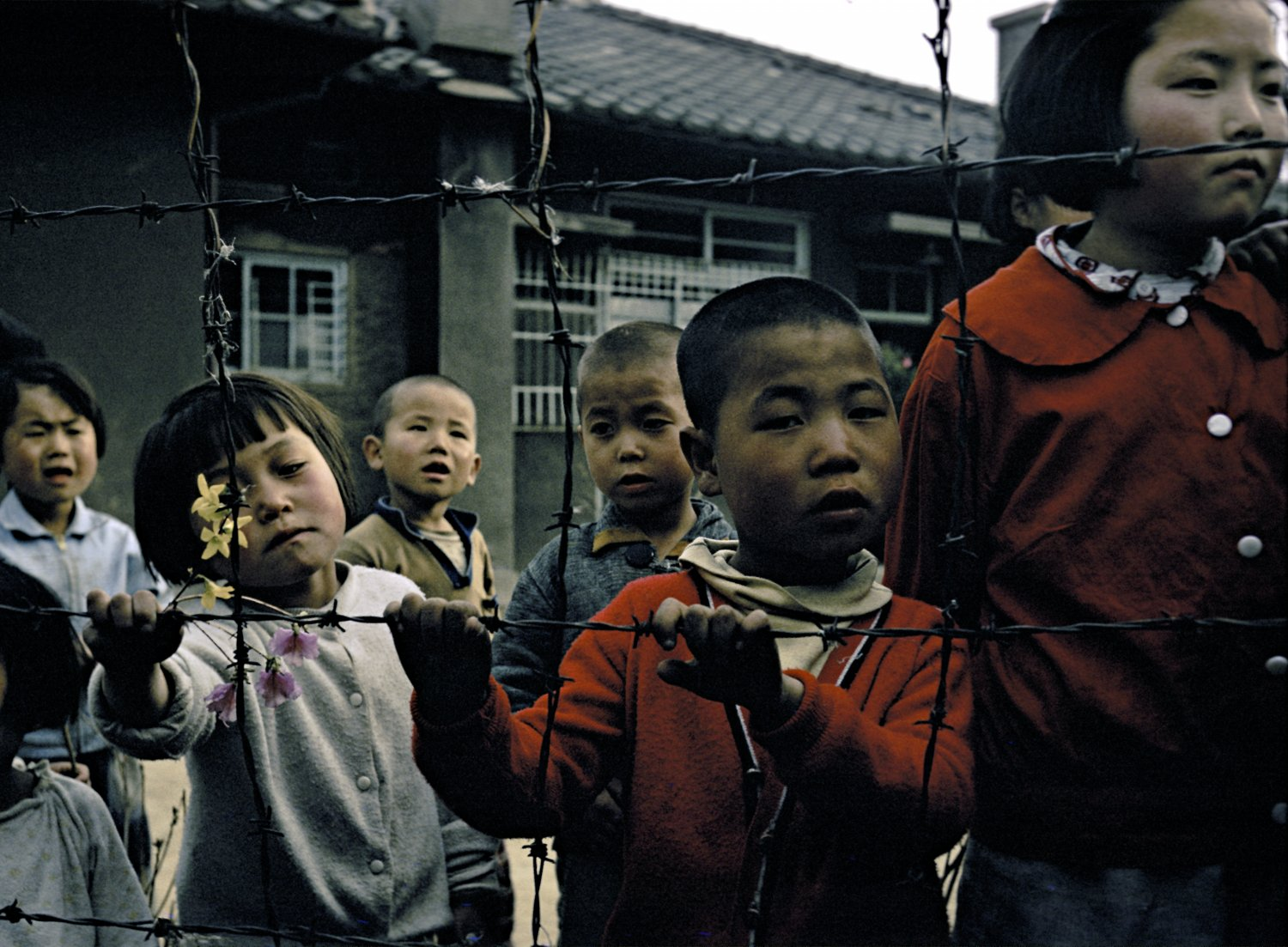 at a mixed blood orphanage in Seoul, Korea 1965 - Korean orphanage - 1965 - Techno-Impressionist Museum - Techno-Impressionism - art - beautiful - photo photography picture - by Tony Karp