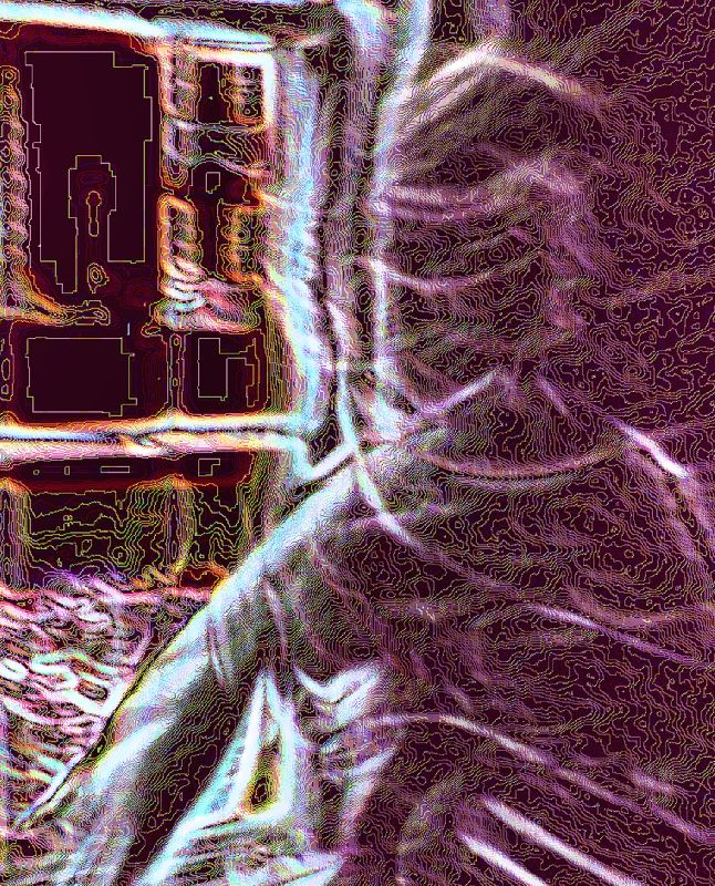 abstract image of my granddaughter moving in front of a window - Carina in motion - Techno-Impressionist Museum - Techno-Impressionism - art - beautiful - photo photography picture - by Tony Karp