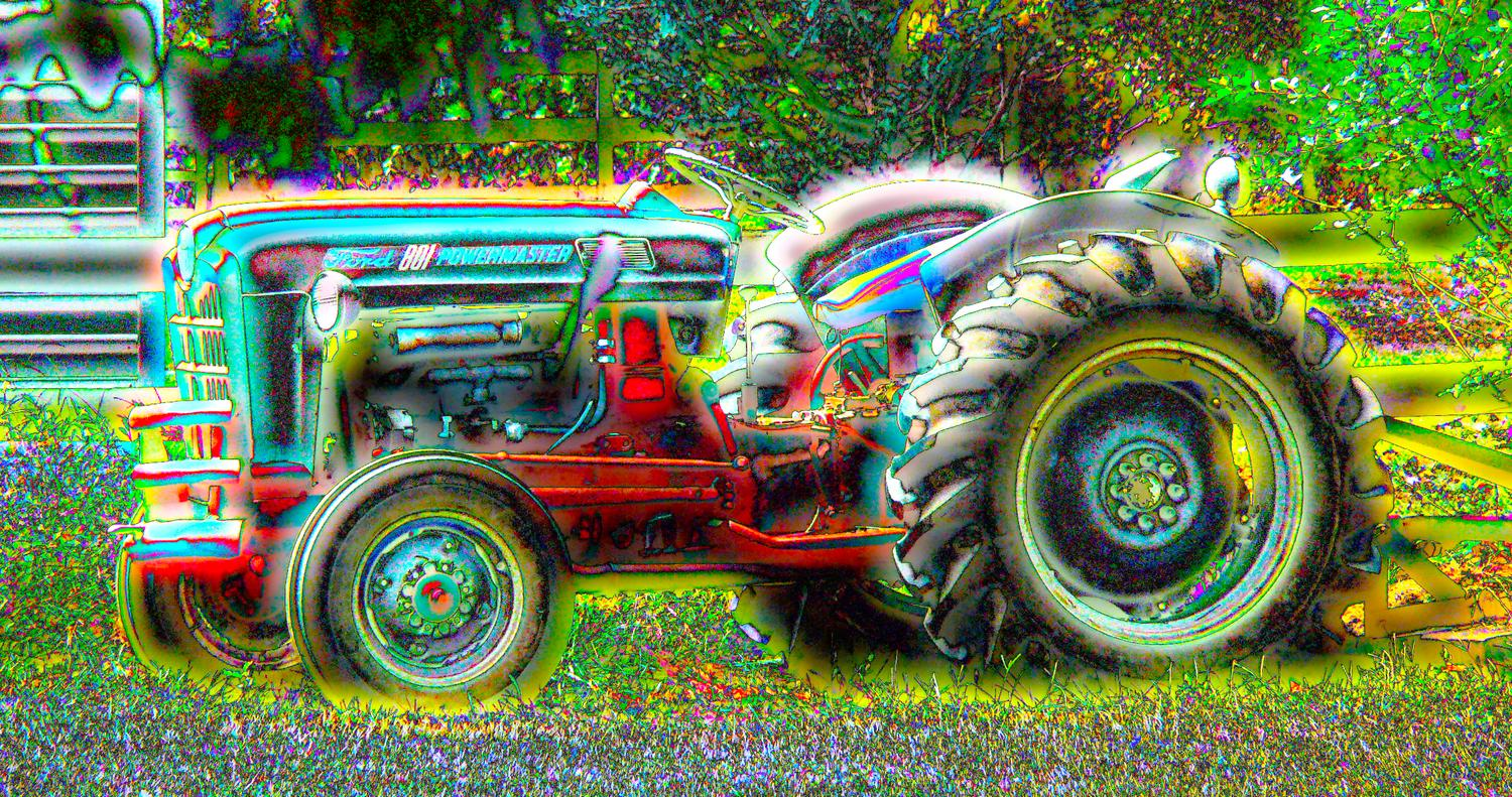 - Magic tractor - Techno-Impressionist Museum - Techno-Impressionism - art - beautiful - photo photography picture - by Tony Karp