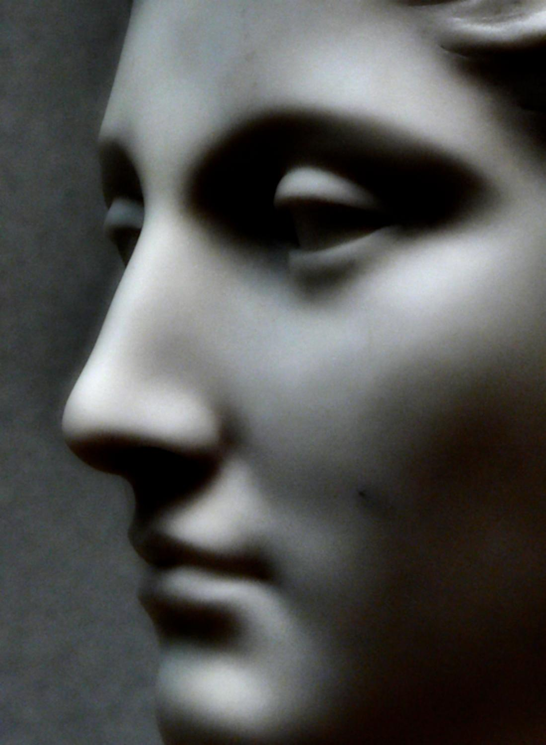 Portrait in warm stone - a woman's face in stone - Portrait in warm stone - Techno-Impressionist Museum - Techno-Impressionism - art - beautiful - photo photography picture - by Tony Karp
