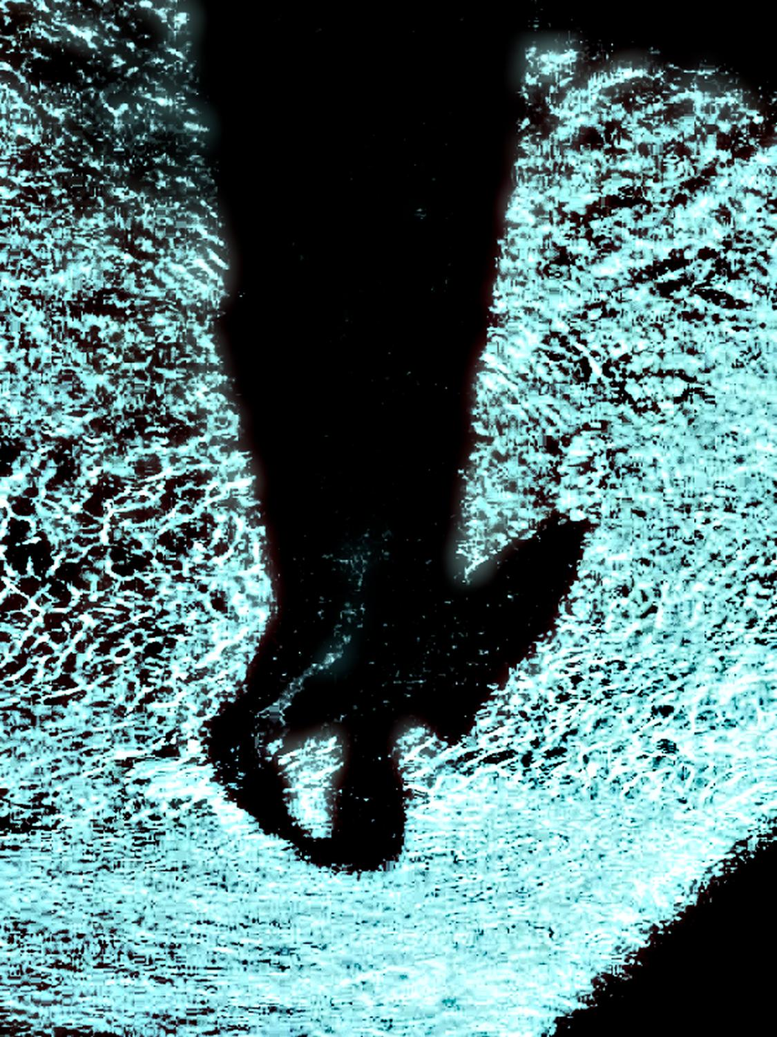 Self Portrait of the artist in the pool - shadow at the bottom of a pool - Self portrait of the artist in the pool - Techno-Impressionist Museum - Techno-Impressionism - art - beautiful - photo photography picture - by Tony Karp